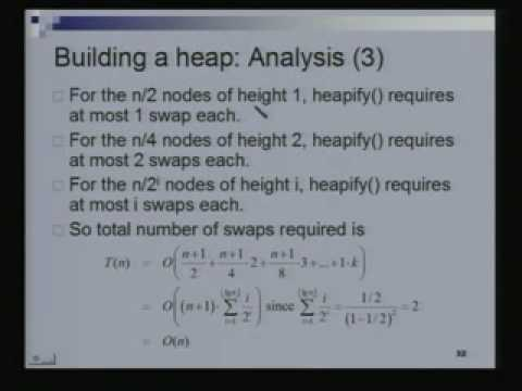 Introduction to Binary Heaps Data Structures and Algorithms Lecture – 21