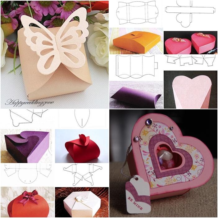 10+ Beautiful DIY Patterns of Candy Gift Box - gift box templates free download
