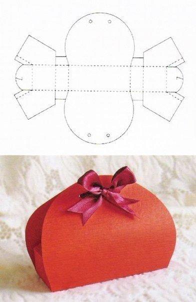 10+ Beautiful DIY Patterns of Candy Gift Box - gift box template free
