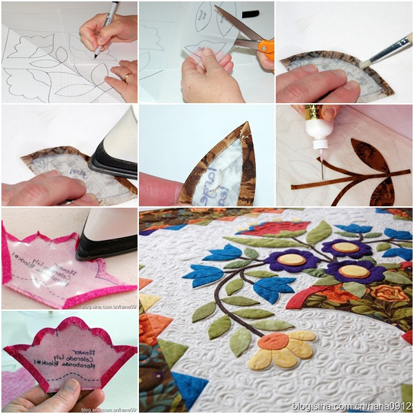 How To Diy Applique Flowers On Quilting - Fab Art Diy