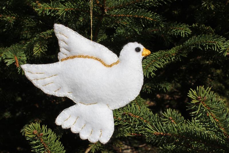 Felt Christmas Ornament Pattern and Template - felt christmas decorations