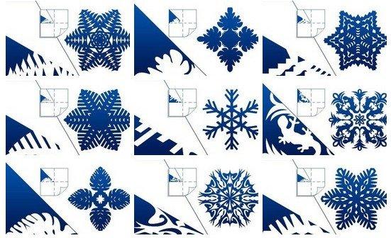 DIY Pretty Kirigami Snowflakes (Free Template) - snowflake template