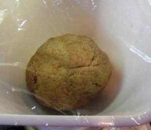 Rye dough ball, prove