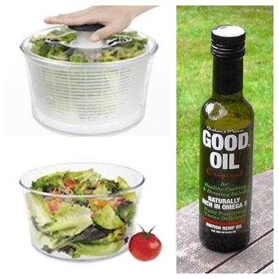 Oxo Herb & Salad Spinner & Good Oil