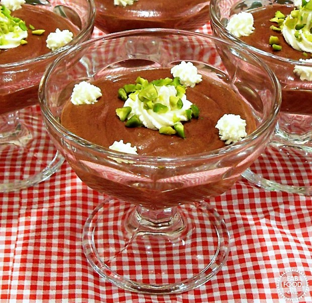 Chocolate & Pistachio Mousse - Fab Food 4 All