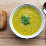 Carrot & Coriander Soup, Vegetarian, healthy, low fat
