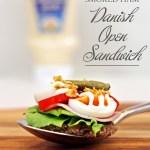 Micro Quail Egg & Smoked Ham Danish Open Sandwich