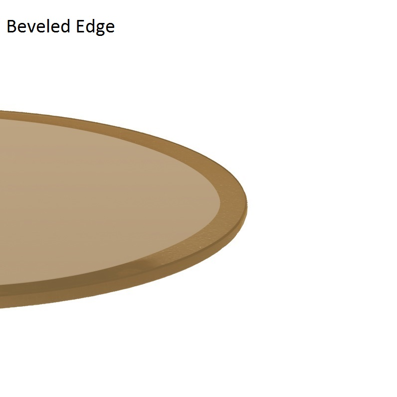bronze glass table top 48 inch round beveled tempered glass