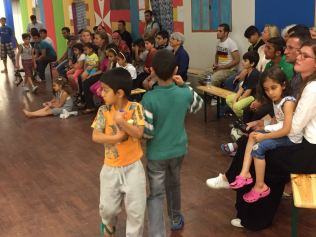 Concert and workshop for refugees in Berlin. Host: Yehudi Menuhin Verein