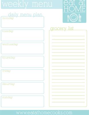 20 Free Menu Planner Printables Fab N\u0027 Free