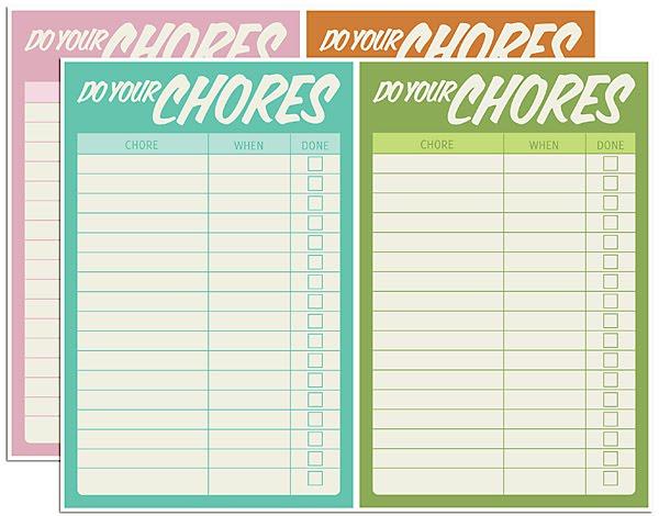 Free Printable Chore Charts Fab N\u0027 Free