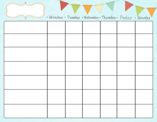 blank sticker chart