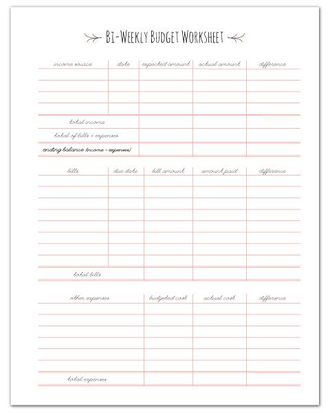 Finance Planners Fab N\u0027 Free - Printable Bi Weekly Calendar