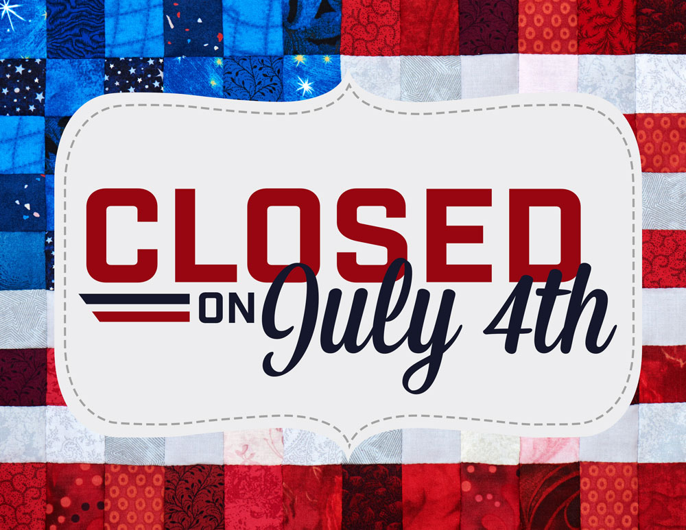 closed-july-4th Fabric Outlet SF
