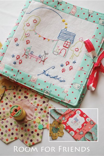 Cinderberry Stitches Room For Friends Needle Case Pattern