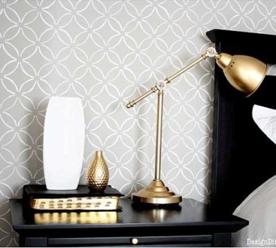 Budget Style: Stenciling vs. Wallpaper | fabrictherapy