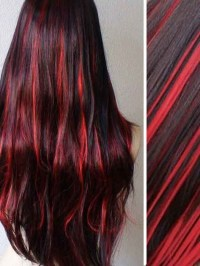 Burgundy Hair With Honey Highlights | brown hair with ...