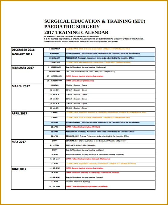 sample training calendar format - Josemulinohouse - training calendar template