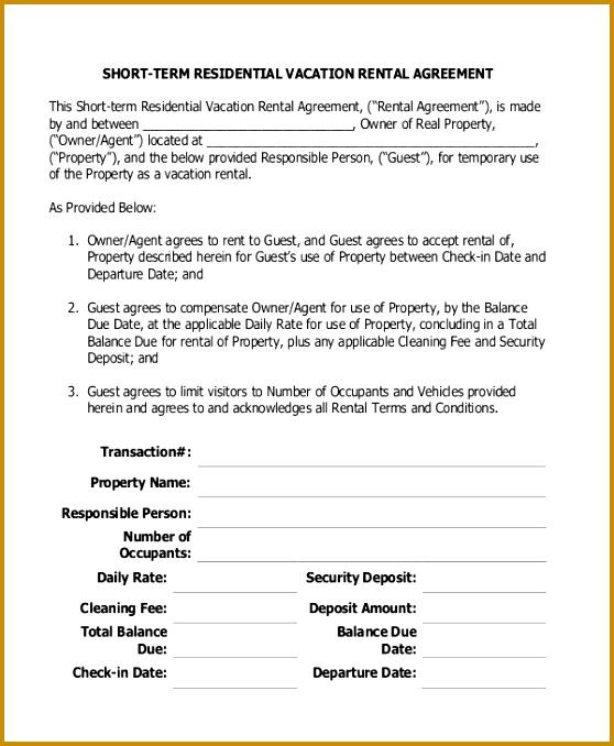 Apartment Application Form - Resume Template Ideas - sample short term rental agreement