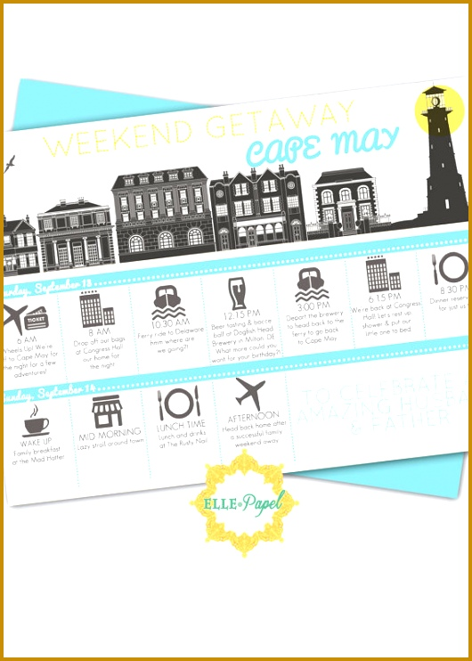 5 Birthday Itinerary Template FabTemplatez