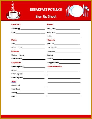 4 christmas potluck sign up sheet template fabtemplatez