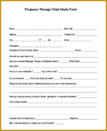 Client Information Form Template - Fiveoutsiders - client information form template