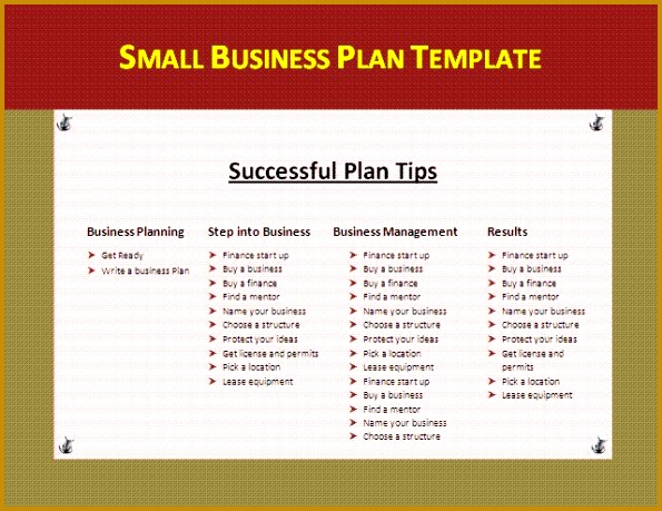 Small restaurant business plan template costumepartyrun small business plan template 7 saveenlarge cheaphphosting Gallery