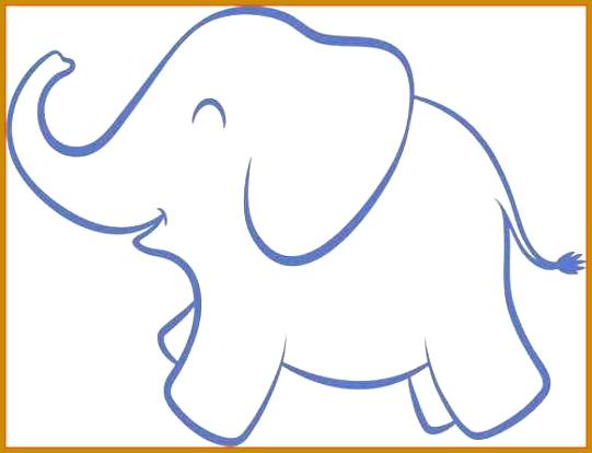 Elephant Cut Out Template 53556 Elephants FabTemplatez - elephant cut out template