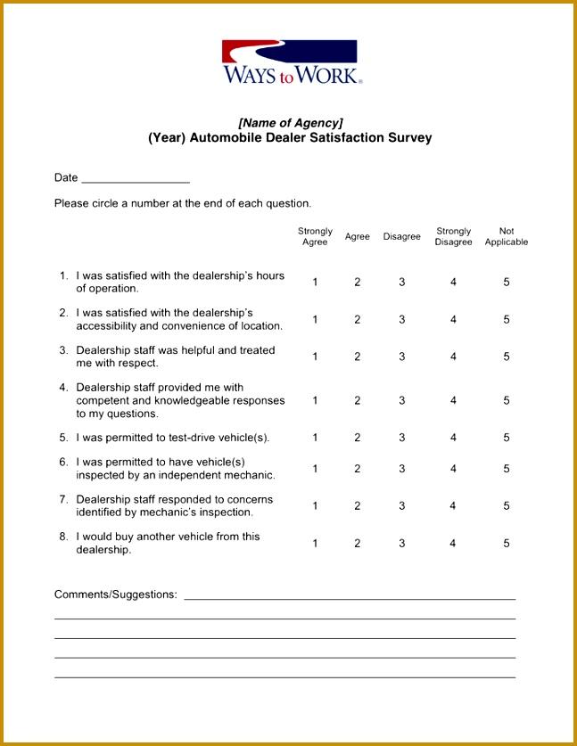 Free Customer Satisfaction Survey Template Sample Business ...