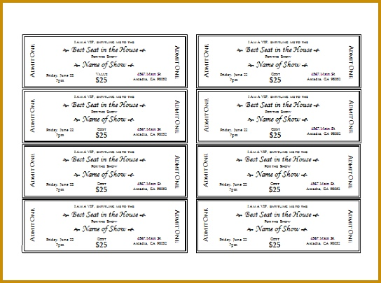 Free Printable Admit E Ticket Templates Show Ticket Templatefreefree ...