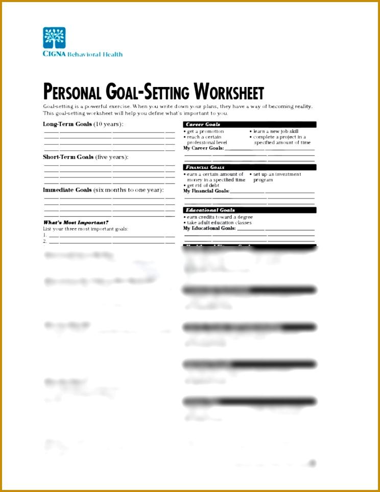 3 Financial Goal Setting Template FabTemplatez - personal goal template