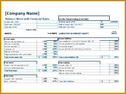 4 Financial Ratios Excel Template FabTemplatez