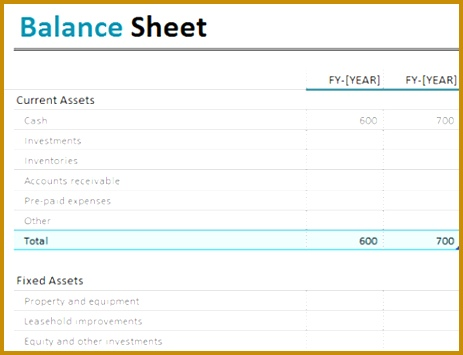 Blank Income Statement And Balance Sheet - Fiveoutsiders - blank income statement and balance sheet