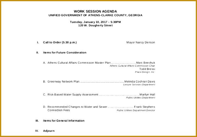 5 Interview Agenda Template FabTemplatez - agenda formats