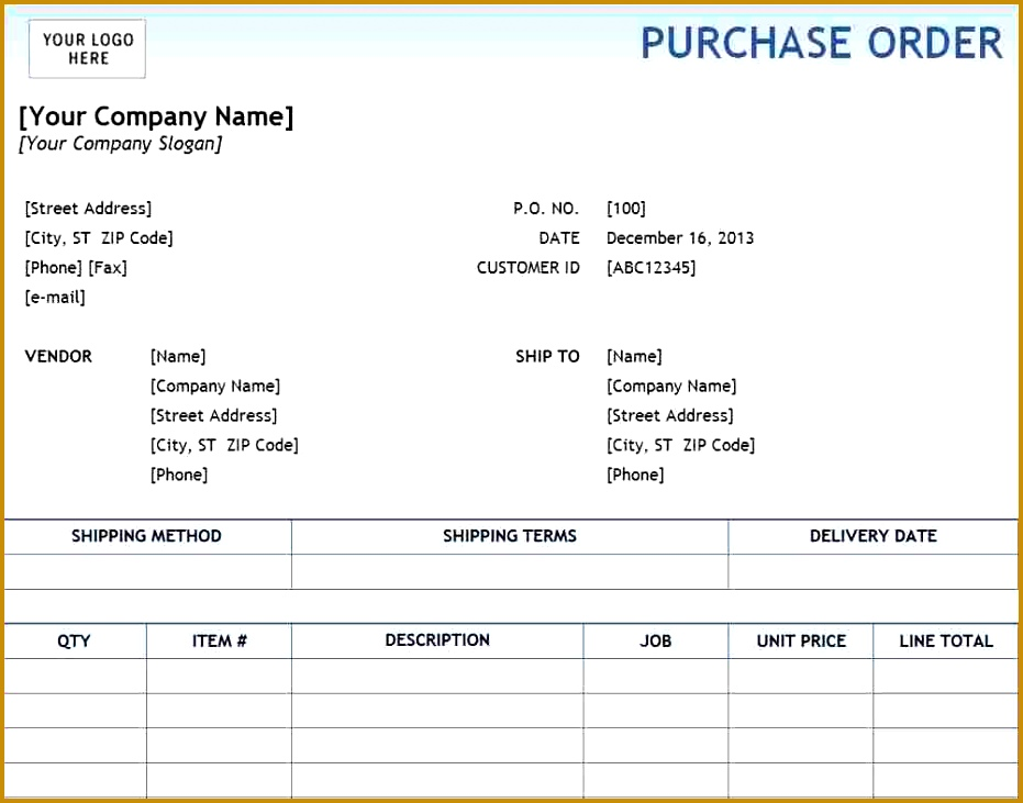 Lpo Format Sample - Fiveoutsiders - local purchase order template