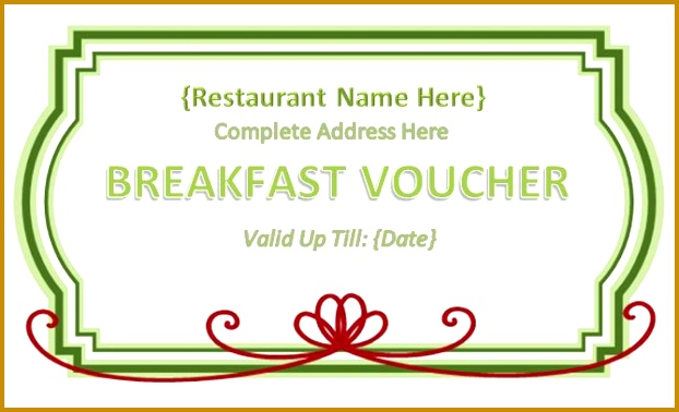 √ Meal Voucher Template Free Download 02517 Free Lunch