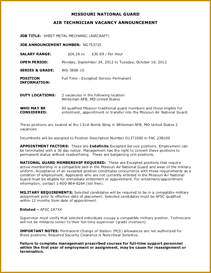 Mechanic Job Sheet Template 85038 Sheet Metal Mechanic Sample Resume