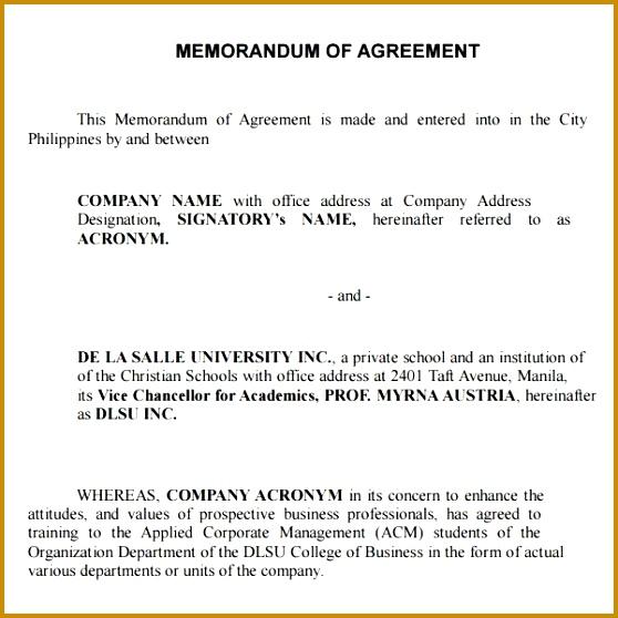 3 Memorandum Of Understanding format Free Download FabTemplatez