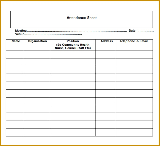 meeting attendance list template etame mibawa co - Ercucentumentltd