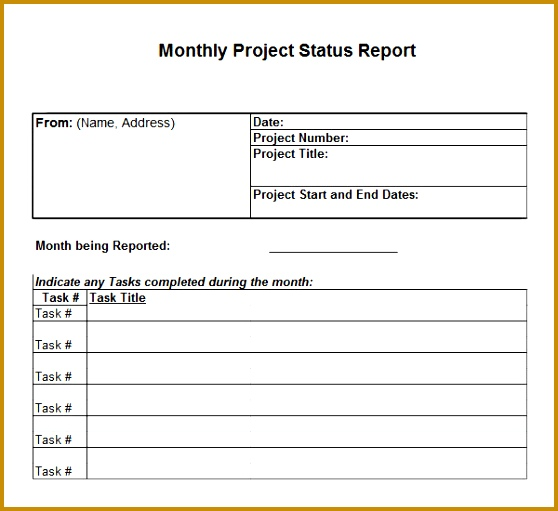 Monthly Report Format - Fiveoutsiders - business monthly report