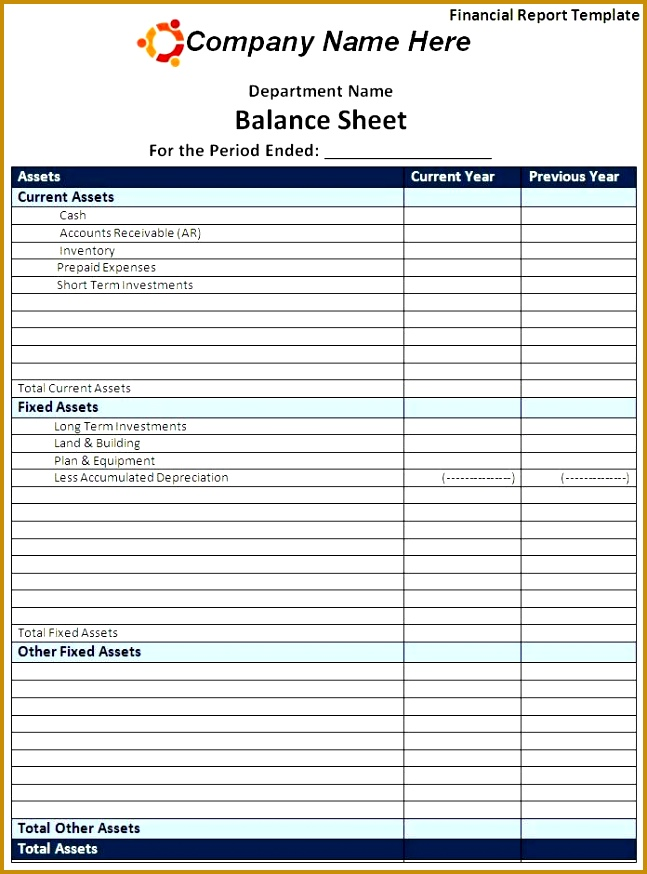 3 Monthly Financial Report Excel Template FabTemplatez