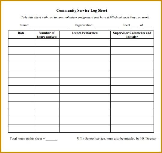 7 Nanny Log Sheet Templates FabTemplatez