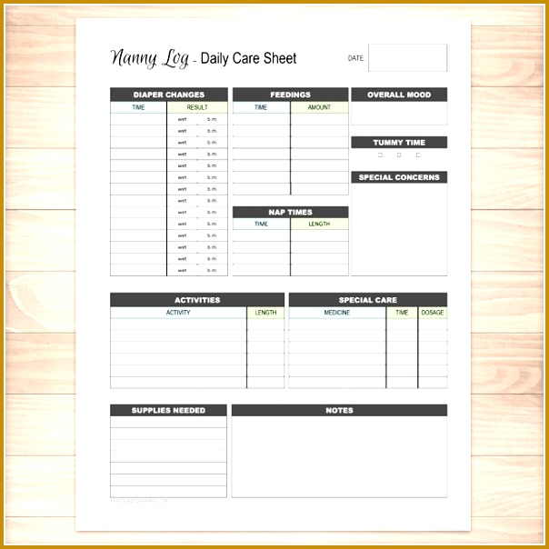 Nanny Information Sheet Template Images - Template Design Ideas - information sheets templates