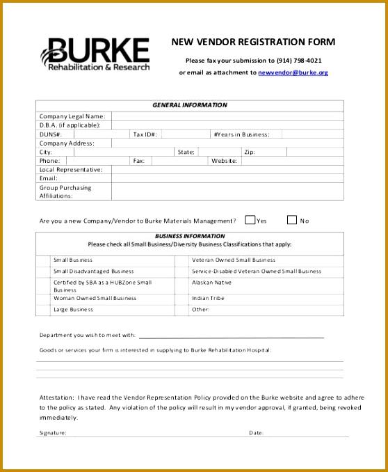 New Client Application Form Template vendor information sheet ...