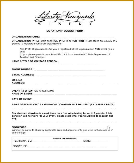 6 Non Profit Donation form Template FabTemplatez