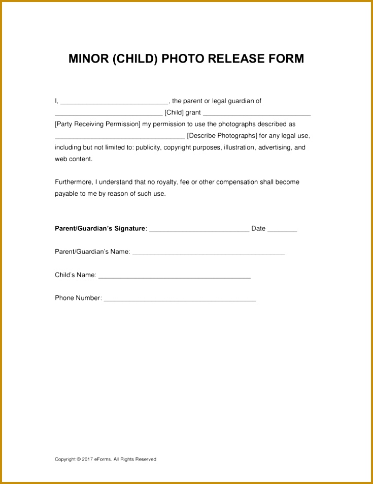Parental Release Form medical release form template for children - parent release form