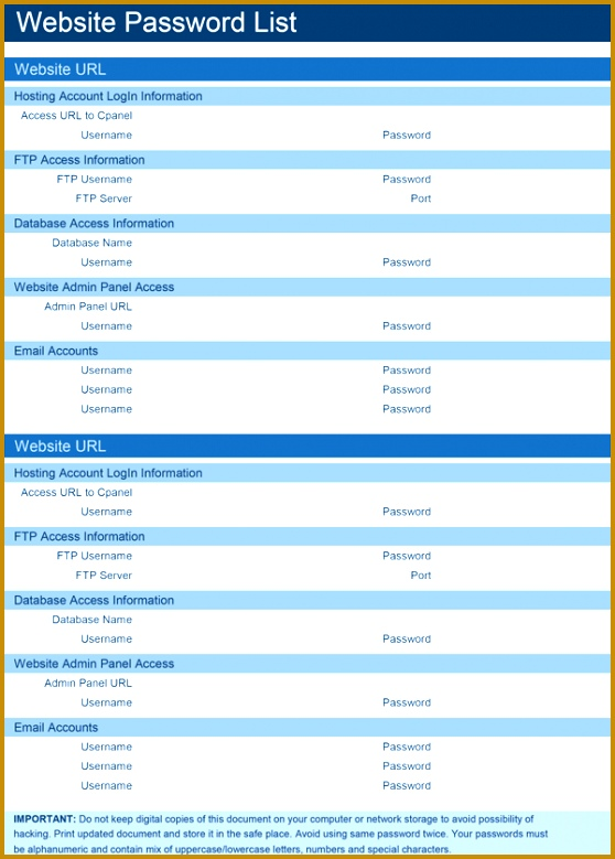 Password Manager Excel Template password manager template excel