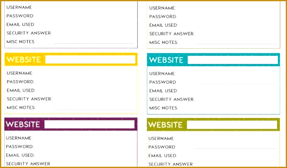7 Password Manager Spreadsheet Template FabTemplatez - password manager spreadsheet template