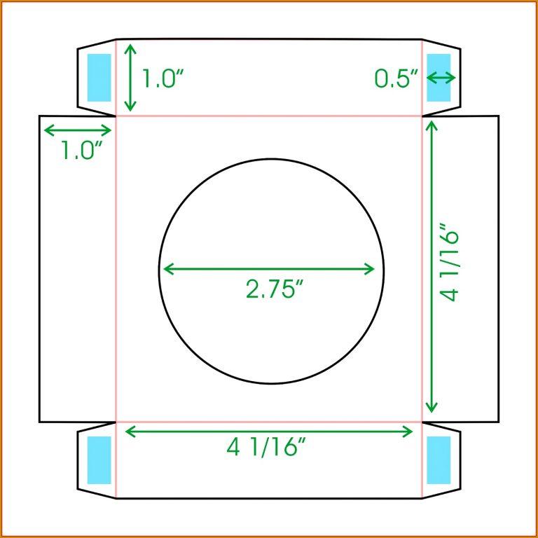 Printable Rectangle Box Template 44169 Cupcake Boxes Template