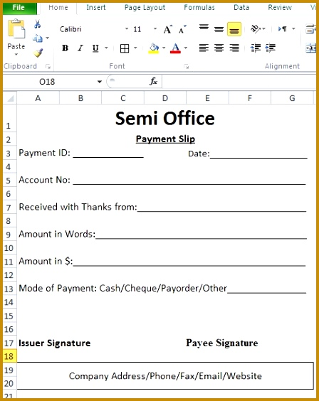 5 Salary Payment format FabTemplatez